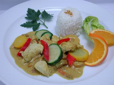Curry-Hähnchen-Pfanne
